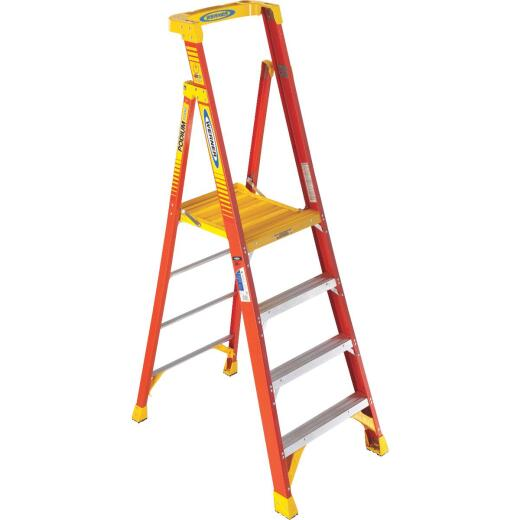 Werner 10 Ft. Reach Fiberglass Podium Ladder with 300 Lb. Load Capacity Type IA Ladder Rating